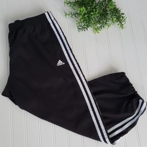Adidas Crop Adjustable Hem 3 Stripe Pants sz Med